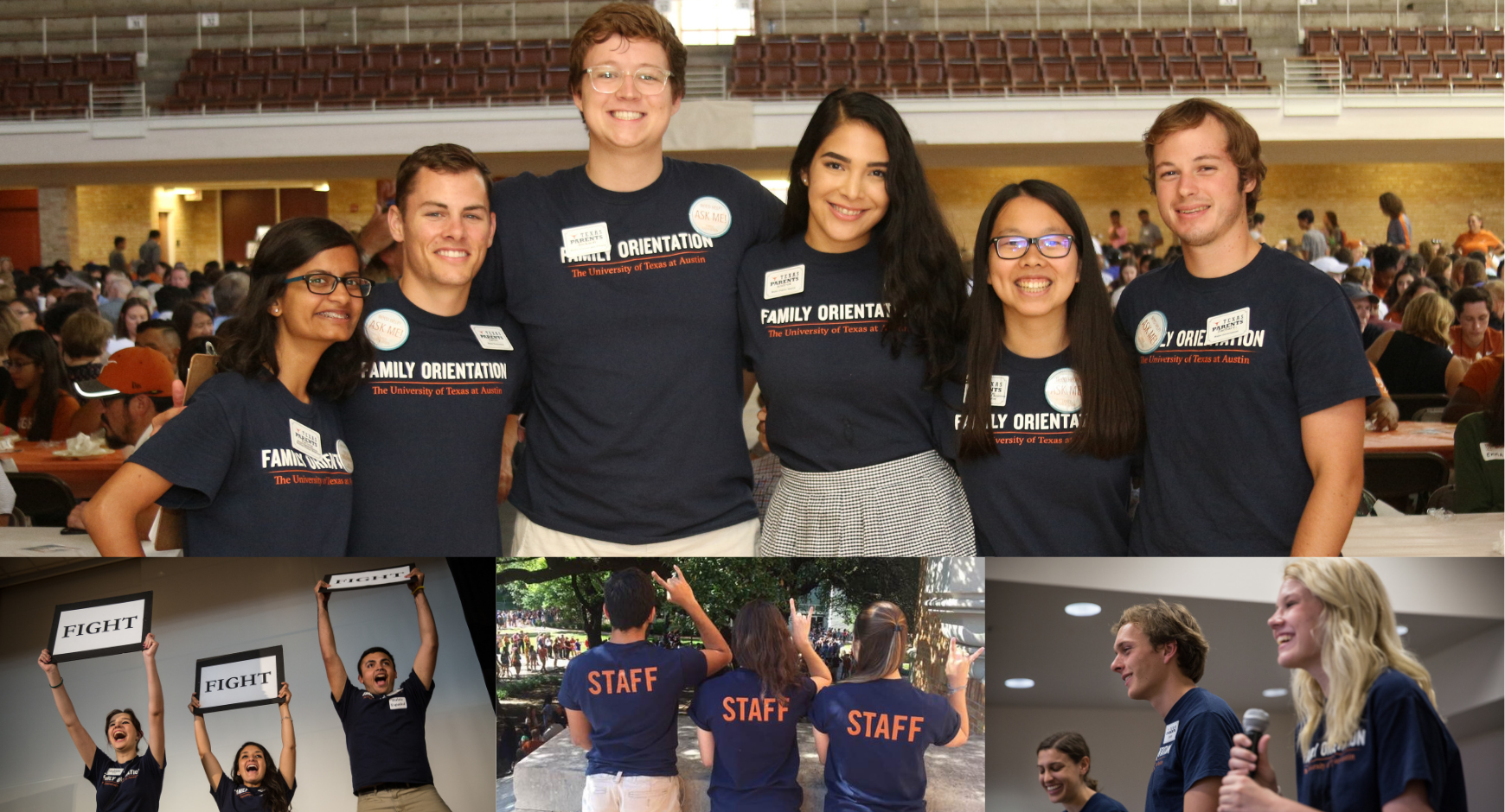 Collage of Family Orientation Student Leaders