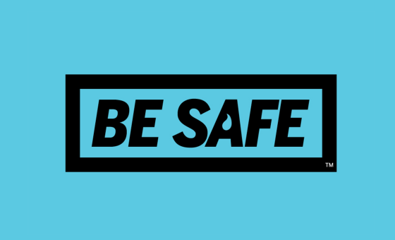 Be Safe logo in light blue and black