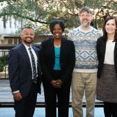 Justin Samuel, University Housing and Dining, Vice President for Student Affairs and Dean of Students Soncia Reagins-Lilly, Miles Sapp and Marilyn Russell, Office of the Dean of Students